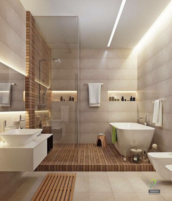 Thiết kế phòng tắm kiểu cổ điển